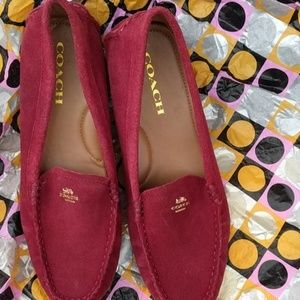 Ladies Genuine Coach Suede Loafers